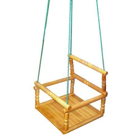 Детские деревянные качели фото