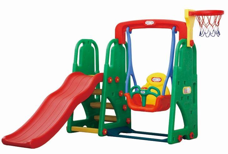 JM-871 Игровой комплекс горка-волна и качели с музыкальной панелью Happy Box
