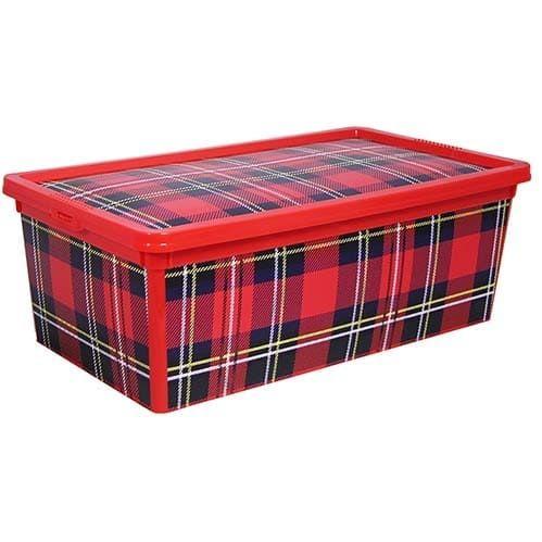 Ящик Деко красная клетка 5,5 л. , арт. 2356